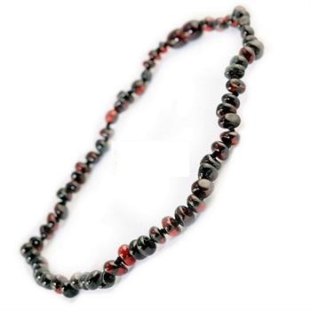Bambeado Amber Necklace Children Bud - Dark Cherry