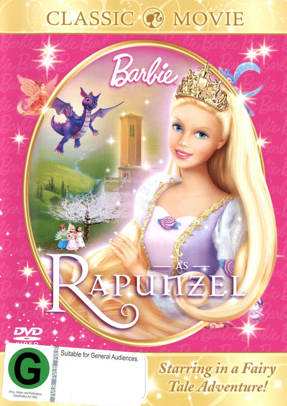 Barbie As Rapunzel on DVD