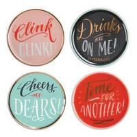 Ladyfingers Letterpress: Porcelain Coaster Set - High Five