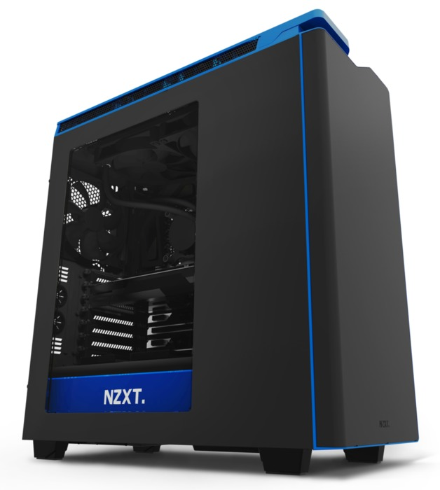 NZXT H440 Mid Tower Case 2015 Edition - Black/Blue