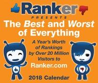 Ranker.com 2018 Desk Calendar by Ranker