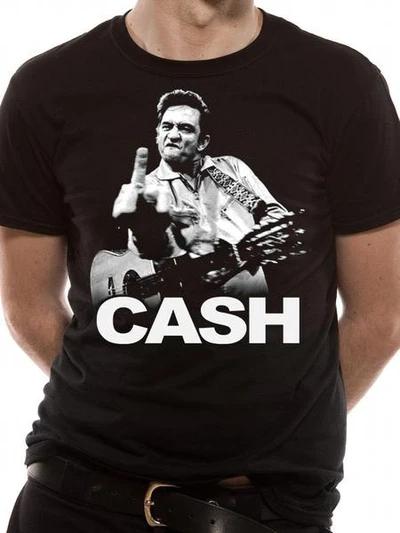Johnny Cash - Finger T-Shirt Black - Large