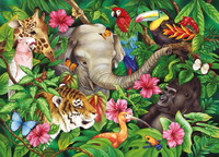 Ravensburger 60 Piece Jigsaw Puzzle - Tropical Friends image