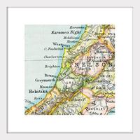 Westport Vintage Map Print - Framed