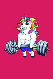 Workout & Food Unicorn Notebook by Discipline de Formatio Activity Tracker