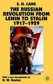 The Russian Revolution from Lenin to Stalin 1917-1929 by Edward Hallett Carr image