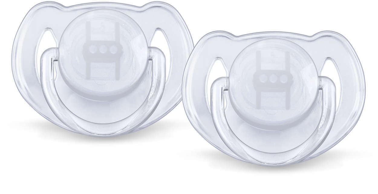 Philips Avent 0-6m Translucent Soother (2 Pack) image