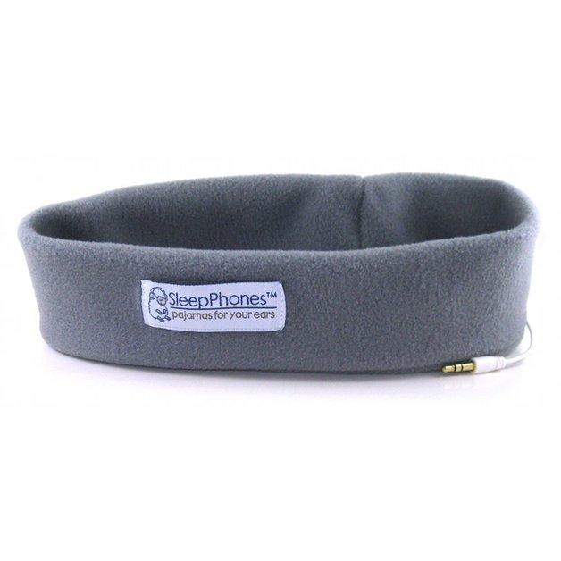 SleepPhones: Classic Grey Fleece - Medium