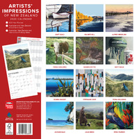 Artists' Impressions of New Zealand 2020 Square Wall Calendar image