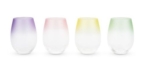 True: Frosted - Ombre Stemless Wine Glasses