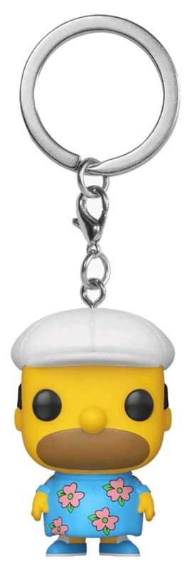 The Simpsons - Homer in Muumuu Pocket Pop! Keychain
