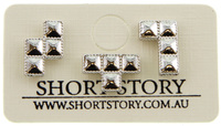 Short Story: Tetris TRIPLE LINE Earrings - Silver