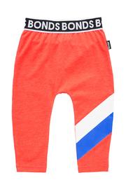 Bonds Sport Stretchy Leggings - Stripe Slay Red (0-3 Months)