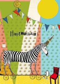 Sacred Bee: Zebra Greeting Card