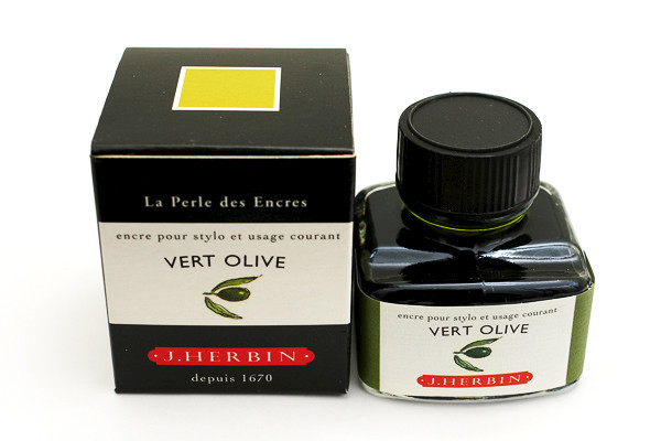 J Herbin: Fountain Pen Ink - Vert Olive (30ml)