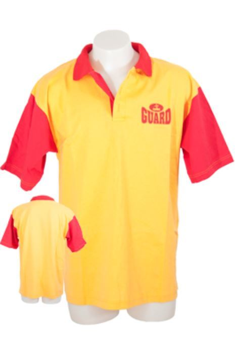 Eyeline Polo Shirt Red/Yellow (Small)