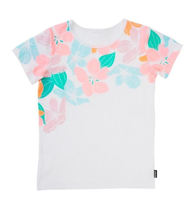 Bonds Short Sleeve Standard T-Shirt - Woodblock Floral (3-6 Months)