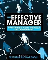 The Effective Manager by Wytress Richardson image