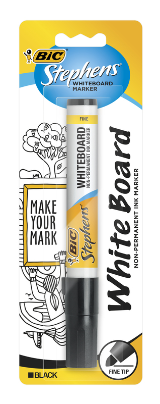 Bic: Whiteboard Marker - Fine Tip Black (Single)