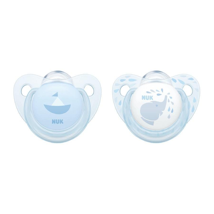 NUK: Silicone Soother - 0-6 Months (2 Pack) - Baby Blue image