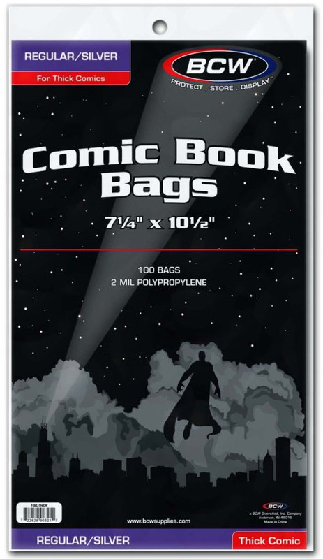 BCW: Comic Book Bags - Thick (Silver/Regular)