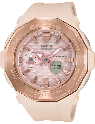 BGA-225CP-4A Casio Baby-G Pink Beige Series Watch