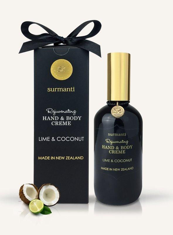 Surmanti Hand + Body Creme - Lime & Coconut (120ml)