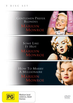 Gentlemen Prefer Blondes / Some Like It Hot / How To Marry A Millionaire on DVD