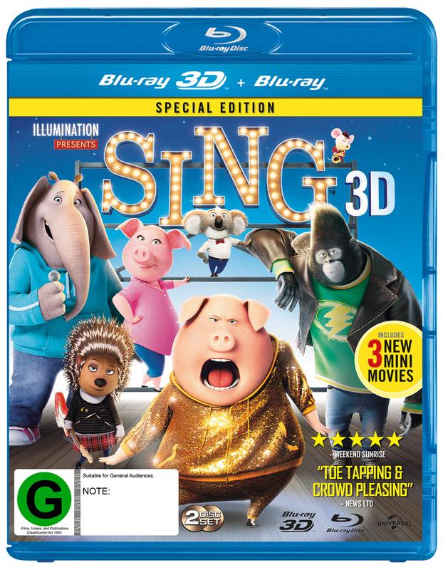 Sing on Blu-ray, 3D Blu-ray