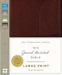 NIV, Journal the Word Bible, Large Print, Premium Leather, Brown by Zondervan