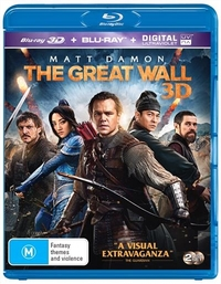 The Great Wall on Blu-ray, 3D Blu-ray, UV