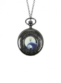 Neon Tuesday: Nightmare Before Christmas - Jack & Sally Pocket Watch Necklace image