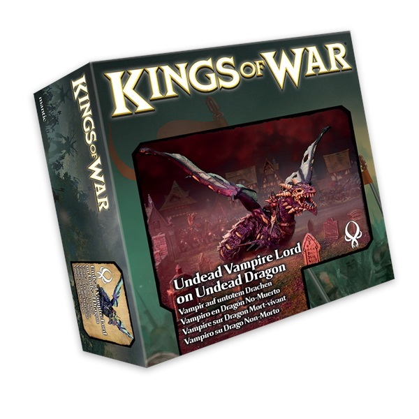 Kings of War Undead Vampire Lord on Undead Dragon image