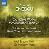 Complete Works For Violin And Piano Volume 1 by George Enescu