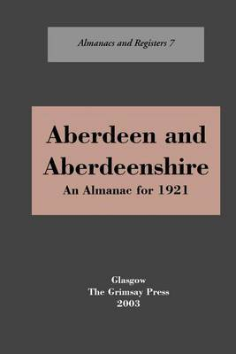 Aberdeen and Aberdeenshire by Oliver And Boyd