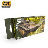 AK US Army & USMC Camouflage Colours Paint Set