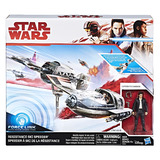 Star Wars: Force Link Figure - Poe Dameron & Ski Speeder 2 Pack