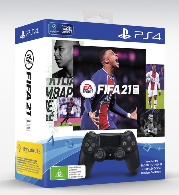 PlayStation 4 Dualshock 4 v2 Wireless Controller + FIFA 21 for PS4