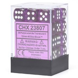 Chessex Signature 12mm D6 Dice Block: Purple & White Translucent