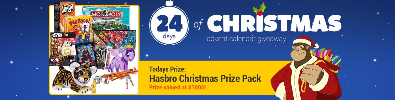 Day 12: Hasbro Christmas Prize Pack