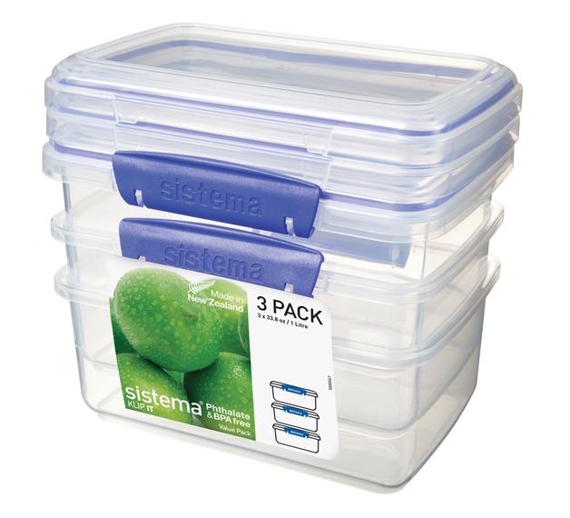 Sistema Klip It Rectangular - 3 Pack (1L)