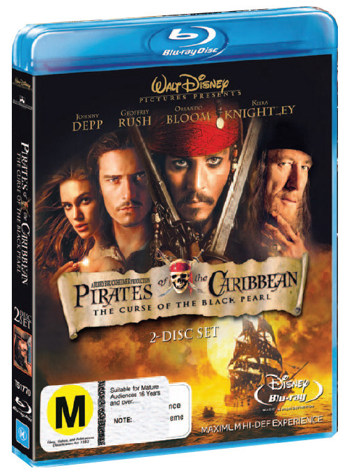 Pirates of the Caribbean - The Curse of the Black Pearl (2 Disc) on Blu-ray