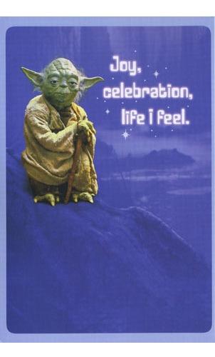 Buy Star Wars Birthday Card Yoda At Mighty Ape Nz