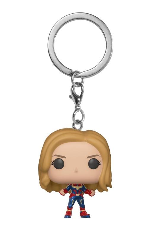 Captain Marvel (Unmasked) - Pocket Pop! Keychain