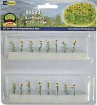 JTT: HO Scale Sunflowers - 16 Pack