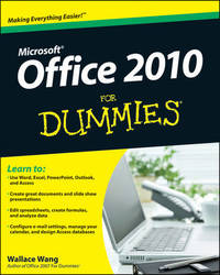 Office 2010 For Dummies by Wallace Wang