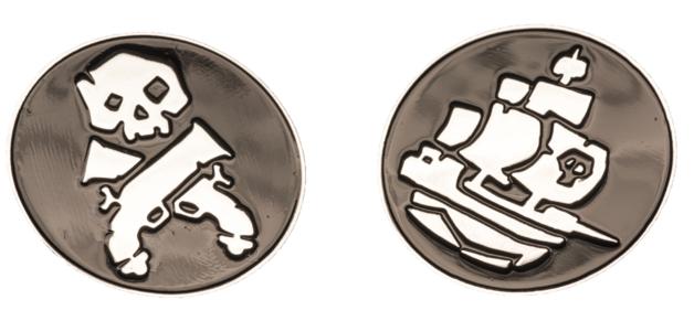 Sea of Thieves: Large Pin Badge Set - Skulls & Sails