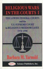 Religious Wars in the Courts: No. 1 by Barbara M. Yarnold image