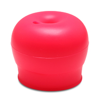 Haakaa: Silicone Round Sippy Top - Red