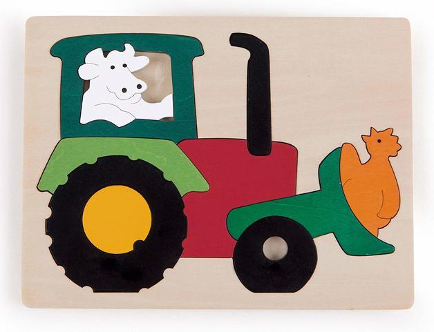 Hape: Wooden Puzzle - Farm Tractor